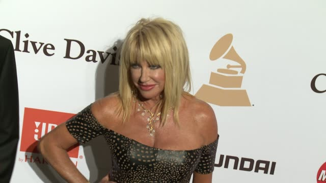 suzanne somers at the 2016 pregrammy gala and salute to industry icons honoring irving azoff at the beverly hilton hotel on february 14 2016 in... - suzanne somers stock videos & royalty-free footage