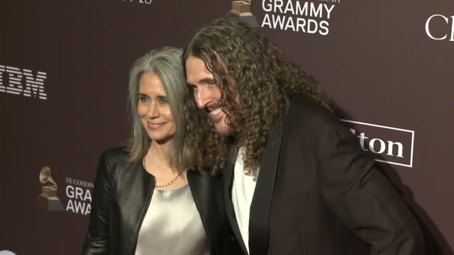 vídeos de stock, filmes e b-roll de suzanne yankovic and weird al yankovic at the clive davis' and the recording academy's pregrammy gala at the beverly hilton hotel on february 09 2019... - weird al yankovic