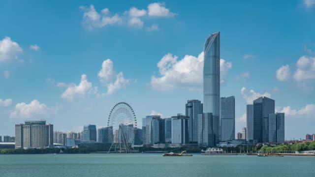 suzhou skyline - jiangsu province stock videos & royalty-free footage