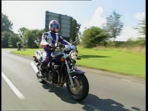 suzuki bandit 1200 - biker jacket stock videos and b-roll footage