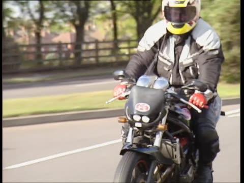 suzuki bandit 400 - biker jacket stock videos and b-roll footage