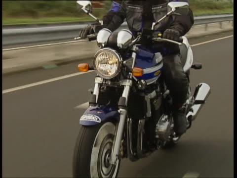 suzuki gsx 1400 - protective sportswear stock videos & royalty-free footage