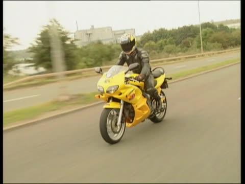 suzuki sv650 - biker jacket stock videos and b-roll footage