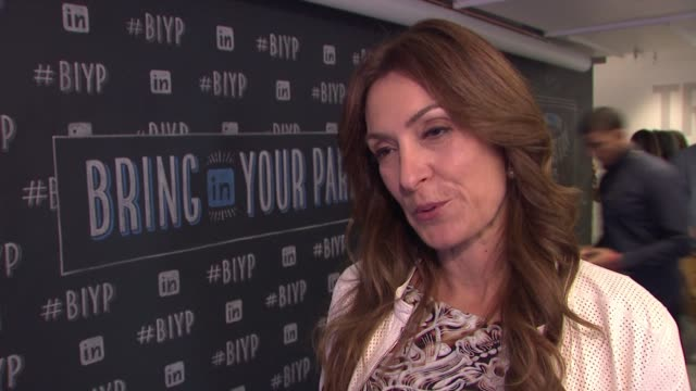 suzy welch discusses the importance of linkedin bring in your parents day. on what she hopes employees and parents gain from participating in this... - new age stock videos & royalty-free footage