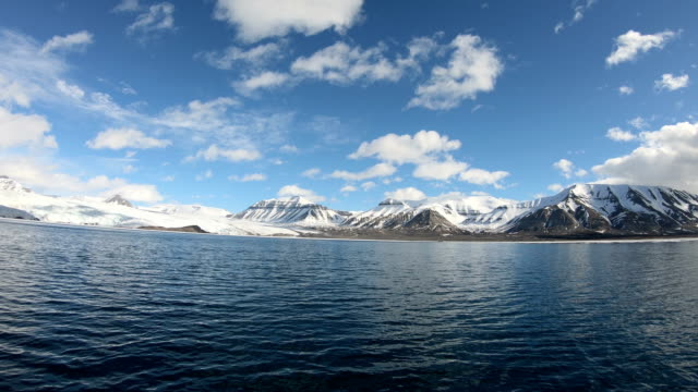 svalbard expedition by sailing boat to nothern fjords - boundary stock videos & royalty-free footage