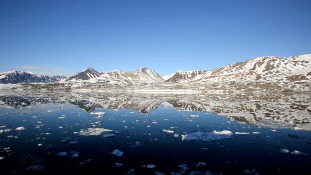 svalbard- sailing between glaciers - svalbard and jan mayen stock videos & royalty-free footage