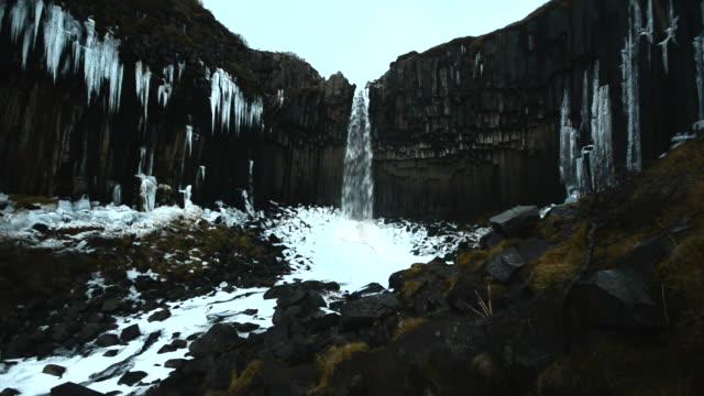 Svartifoss waterfall column rock , iceland