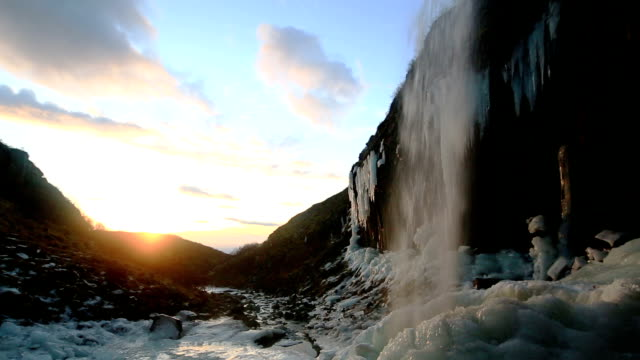 svartifoss waterfalls - basalt stock videos & royalty-free footage