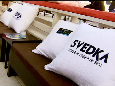svedka vodka at the ali larter hosts the launch of 2033 the future of misbehavior at polaroid beach house in malibu california on august 3 2007 - ali larter stock videos & royalty-free footage