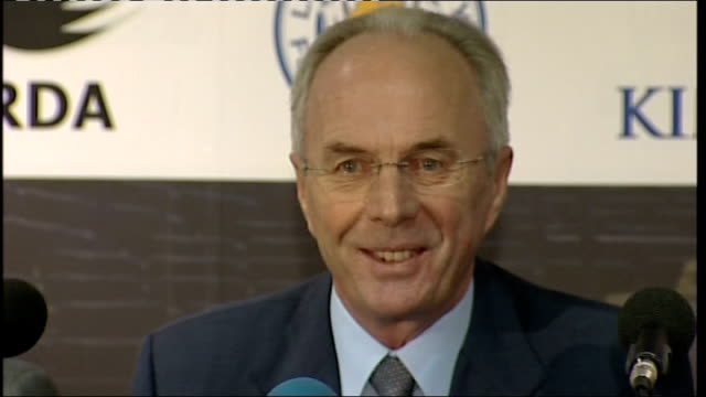 sven goran eriksson appointed new manager of leicester city: press conference; england: leicestershire: leicester: walkers stadium: int ** beware... - new age stock videos & royalty-free footage