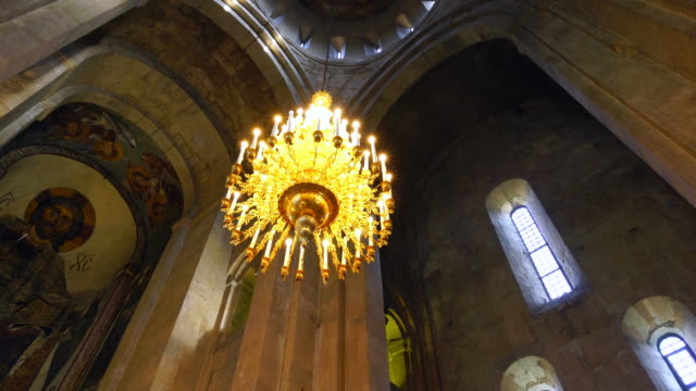 svetitsjoveli cathedral in mtskheta city - caucasus stock videos and b-roll footage
