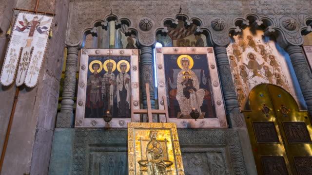 svetitsjoveli cathedral, world heritage site, unesco, mtskheta city, mtskheta-mtianeti region, georgia, middle east - religioni e filosofie video stock e b–roll
