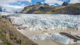 Svinafellsjokull, part of the Skaftafell Nature Reserve in Iceland, an outlet glacier of Vatnajokull, the largest ice cap in Europe