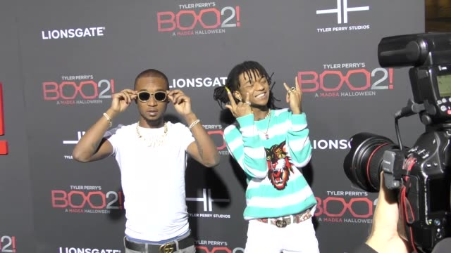 Swae Lee Slim Jxmmi at Lionsgate Presents The Los Angeles Premiere of Tyler Perry's 'Boo 2 A Madea Halloween' at LA LIVE on October 16 2017 in Los...