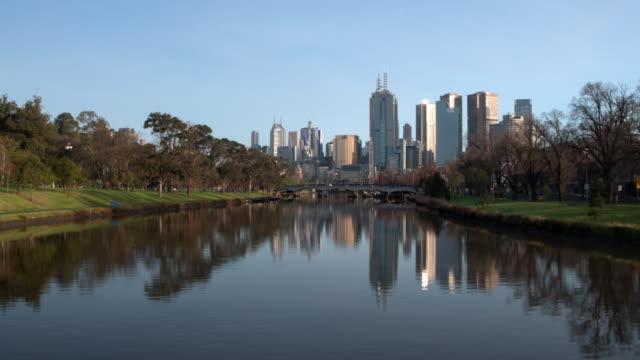 Swan Street Bridge, Yarra River, Melbourne City, Victoria, Australia