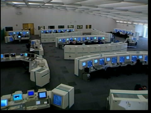 swanwick air traffic control centre opens; england: hampshire: swanwick: ext sign for 'air traffic control centre' int tgv interior of new air... - on air sign stock videos & royalty-free footage