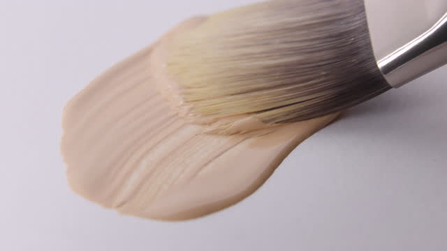 swatch a foundation on white background - painting art product stock videos & royalty-free footage