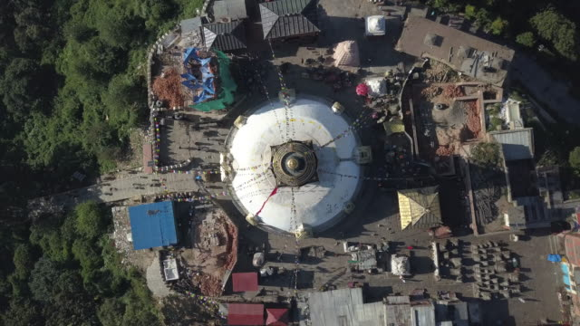 swayambhunath stupa, kathmandu, nepal - 丸屋根点の映像素材/bロール