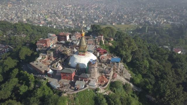 Swayambhunath Temple, atop a hill in Kathmandu, Nepal