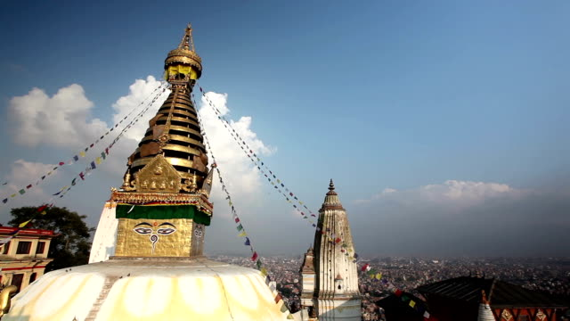 swayambhunath - circa 5th century stock videos & royalty-free footage