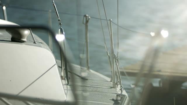 Swaying boat close up