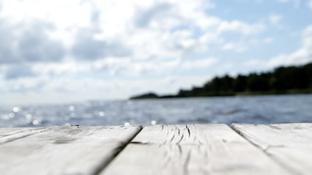 swaying wooden jetty - shallow depth of field - swaying stock videos & royalty-free footage