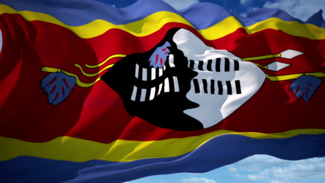 swaziland flag - squiggle stock videos & royalty-free footage