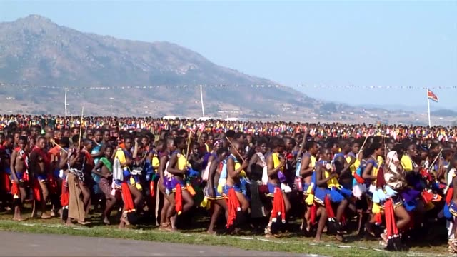 Swaziland's annual 'Reed Dance' is a ceremony meant to be a traditional show of virginity by thousands of maidens Mbabane Swaziland