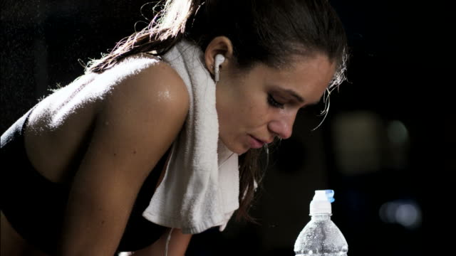 sweating after a workout - sweat stock videos & royalty-free footage