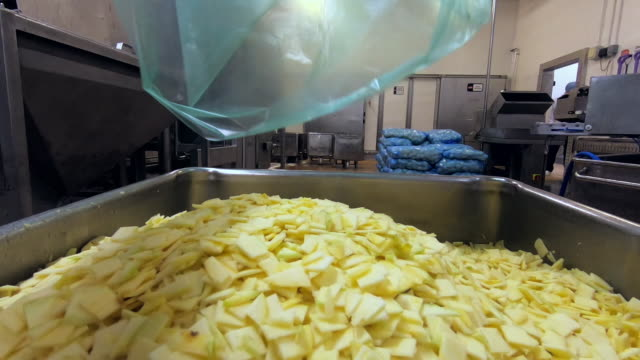 swede is processed into small flakes in a factory - crucifers stock videos & royalty-free footage