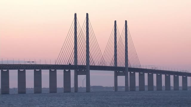 Sweden and Denmark step up border checks AT SEA Oresund Strait Oresund Bridge which connects Sweden and Denmark