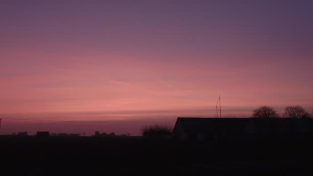 Sweden Farm Sunrise