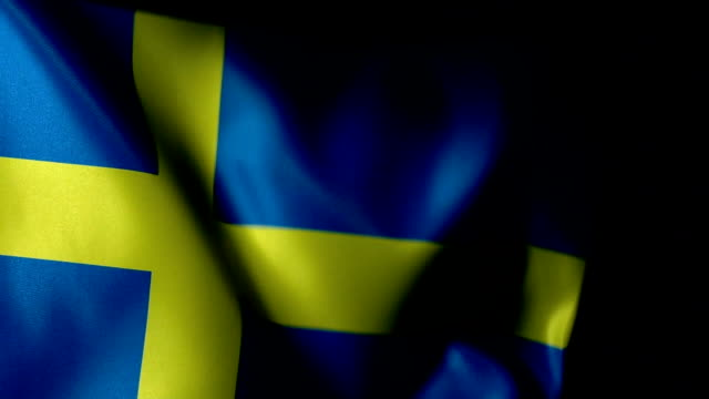 sweden flag flapping - capital cities stock videos & royalty-free footage