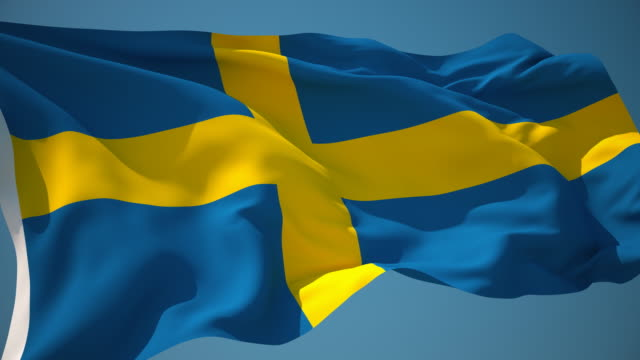 4K Sweden Flag - Loopable