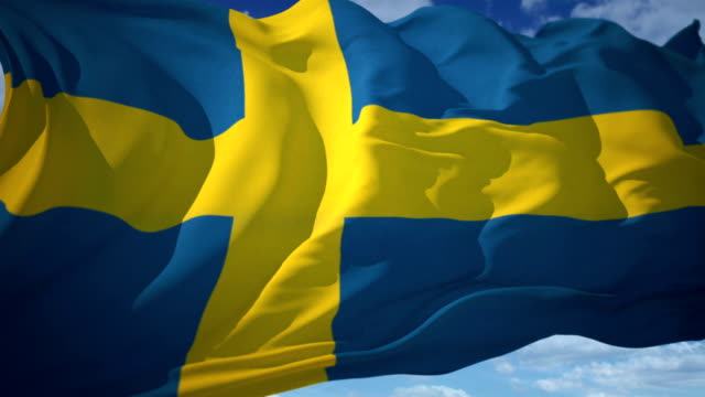 sweden flag - politics stock videos & royalty-free footage