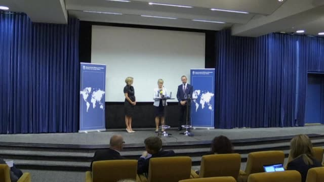 sweden hosts an international ministerial meeting in stockholm on nuclear disarmament and non proliferation - disarmament stock videos and b-roll footage