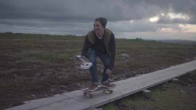 vidéos et rushes de sweden nature travel skateboarding - eastern european culture