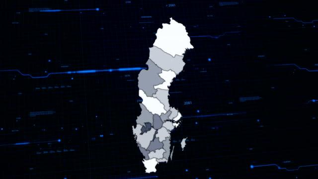 Sweden network map