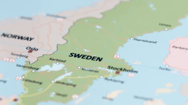 europe sweden on world map - map stock videos & royalty-free footage
