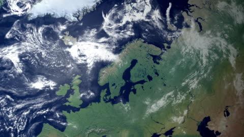 vídeos y material grabado en eventos de stock de suecia aparece después de earth zoom (y alfa mate) - europa continente