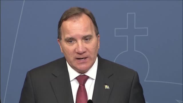 Sweden's Prime Minister Stefan Lofven and Minister for Finance Magdalena Andersson hold a press conference on the outcome of the UK referendum leave...