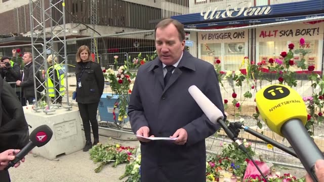 Sweden's Prime Minister Stefan Lofven says the country will hold a minute's silence on Monday in memory of the victims