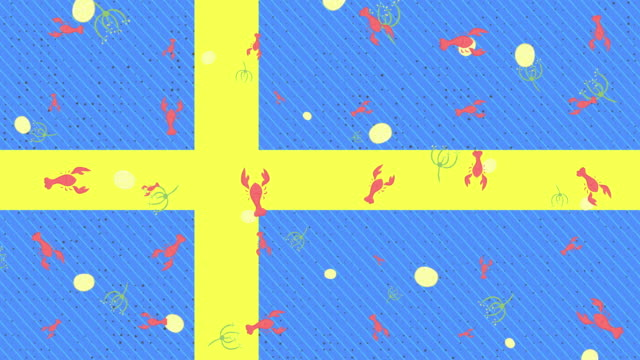 swedish crayfish party background - dill stock videos and b-roll footage