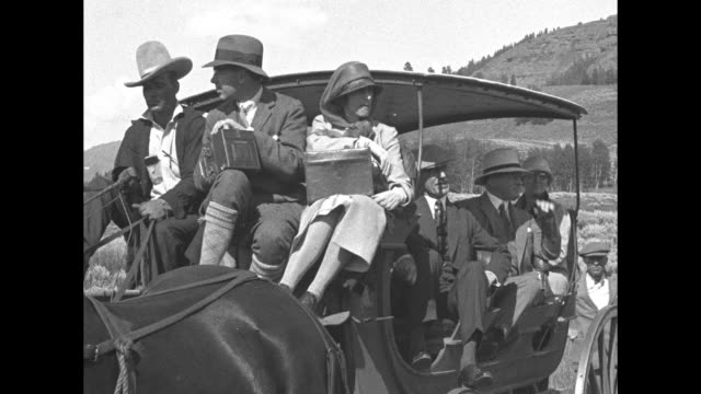 swedish crown prince gustaf adolf sitting on front seat of stage coach with wife lady louise mountbatten driver wearing cowboy hat sitting next to... - king royal person stock videos & royalty-free footage