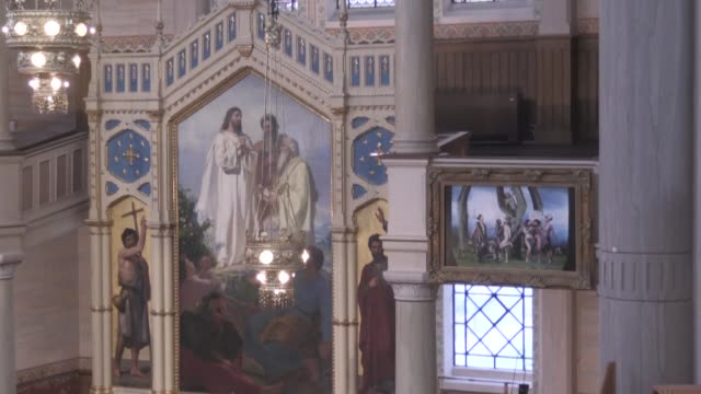 a swedish diocese has decided to remove a gay depiction of original sin that hung briefly as an altarpiece but not because the lutheran church of... - oresund region stock videos & royalty-free footage