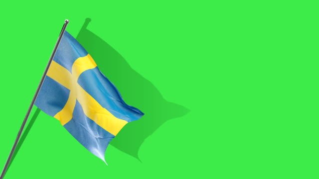 swedish flag rising - swedish flag stock videos and b-roll footage