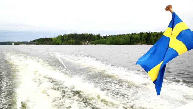swedish flag - nautical vessel stock videos & royalty-free footage