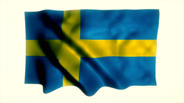 swedish flag - all european flags stock videos and b-roll footage