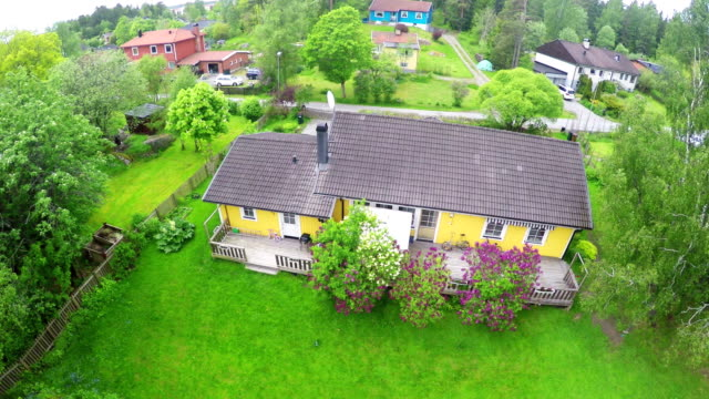 swedish house - quadcopter stock videos & royalty-free footage