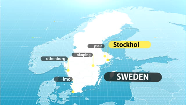 swedish map - sweden stock videos & royalty-free footage